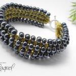 Silver Caviar Micro Macrame Pattern