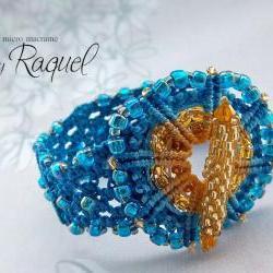 "Micro Macrame TUTORIAL Bracelet ""Wheel"""