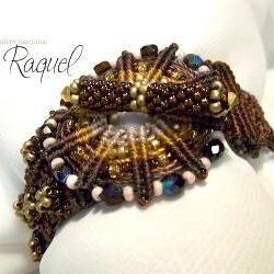 Brown Wheel Micro Macrame Bracelet