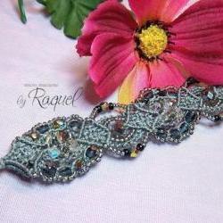 Silver Treasure Micromacrame Bracelet